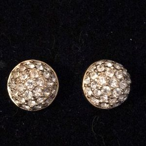 Jewelry - Crystal rhinestone pave dome stud earrings